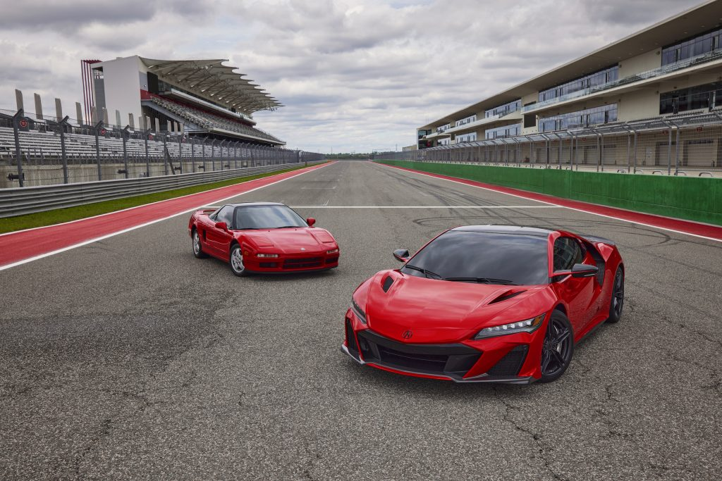 2022 Acura NSX Type S heritage old and new