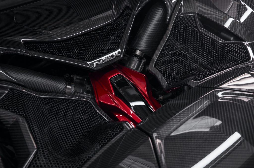 2022 Acura NSX Type S engine bay coverings