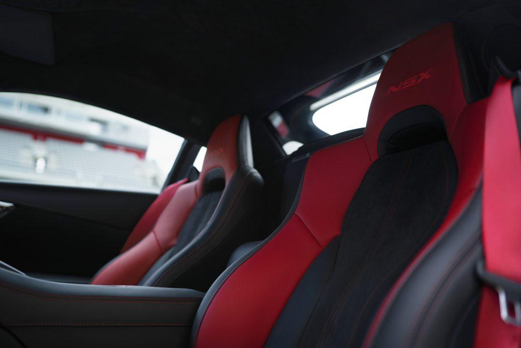 2022 Acura NSX Type S interior red seats