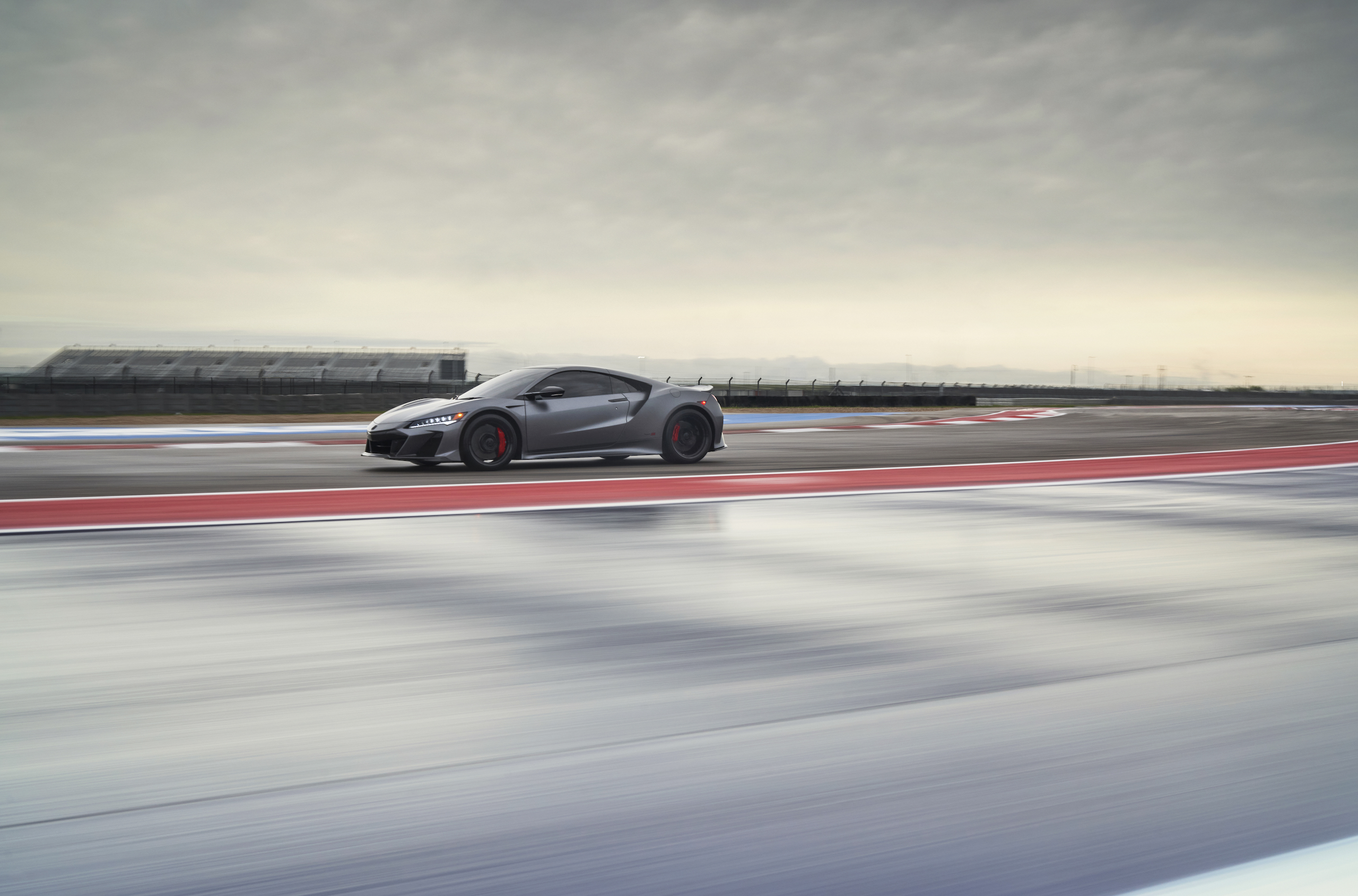 2022 Acura NSX Type S front three-quarter wide track action