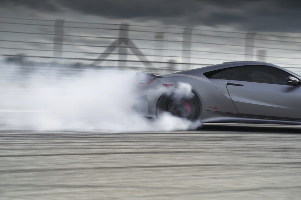 2022 Acura NSX Type S rear end smoke track action