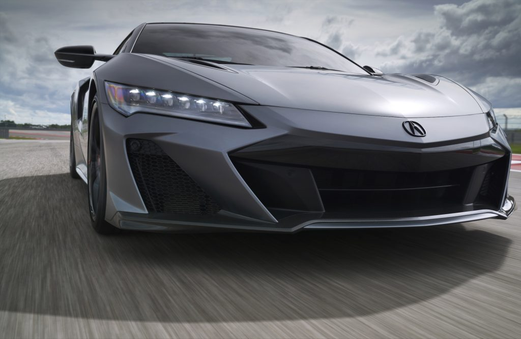 2022 Acura NSX Type S front end track action