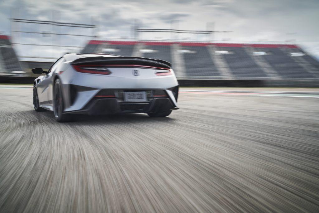 2022 Acura NSX Type S rear three-quarter track action