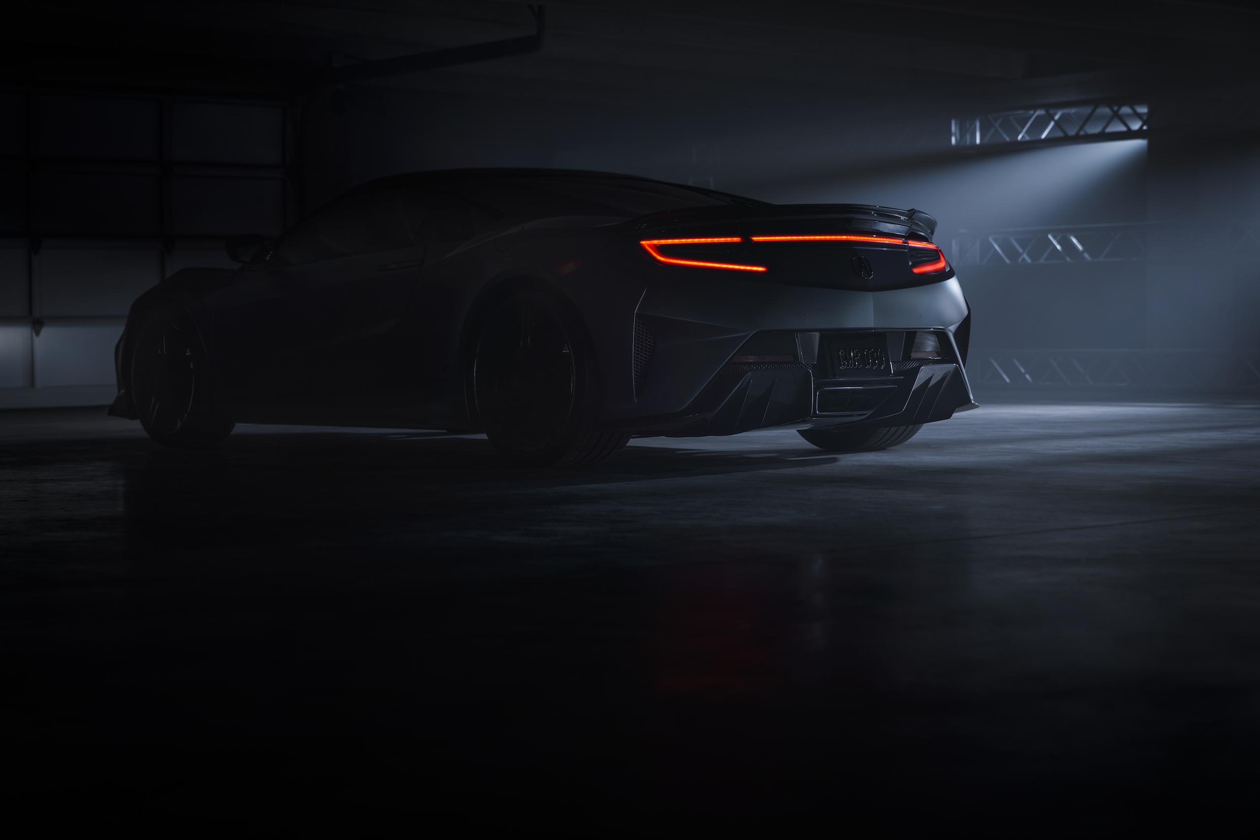 2022 Acura NSX Type S rear three-quarter in shadow