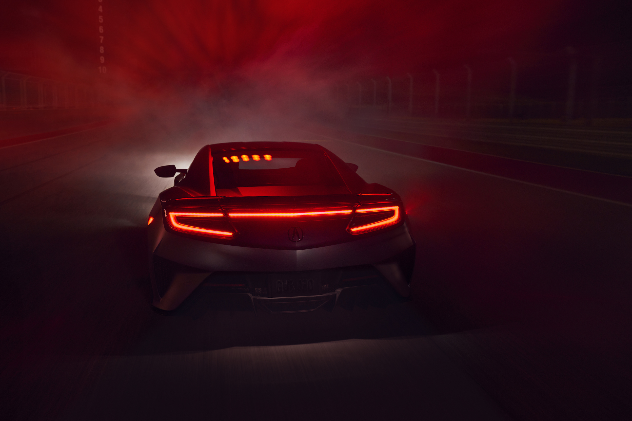 2022 Acura NSX Type S rear red smoke