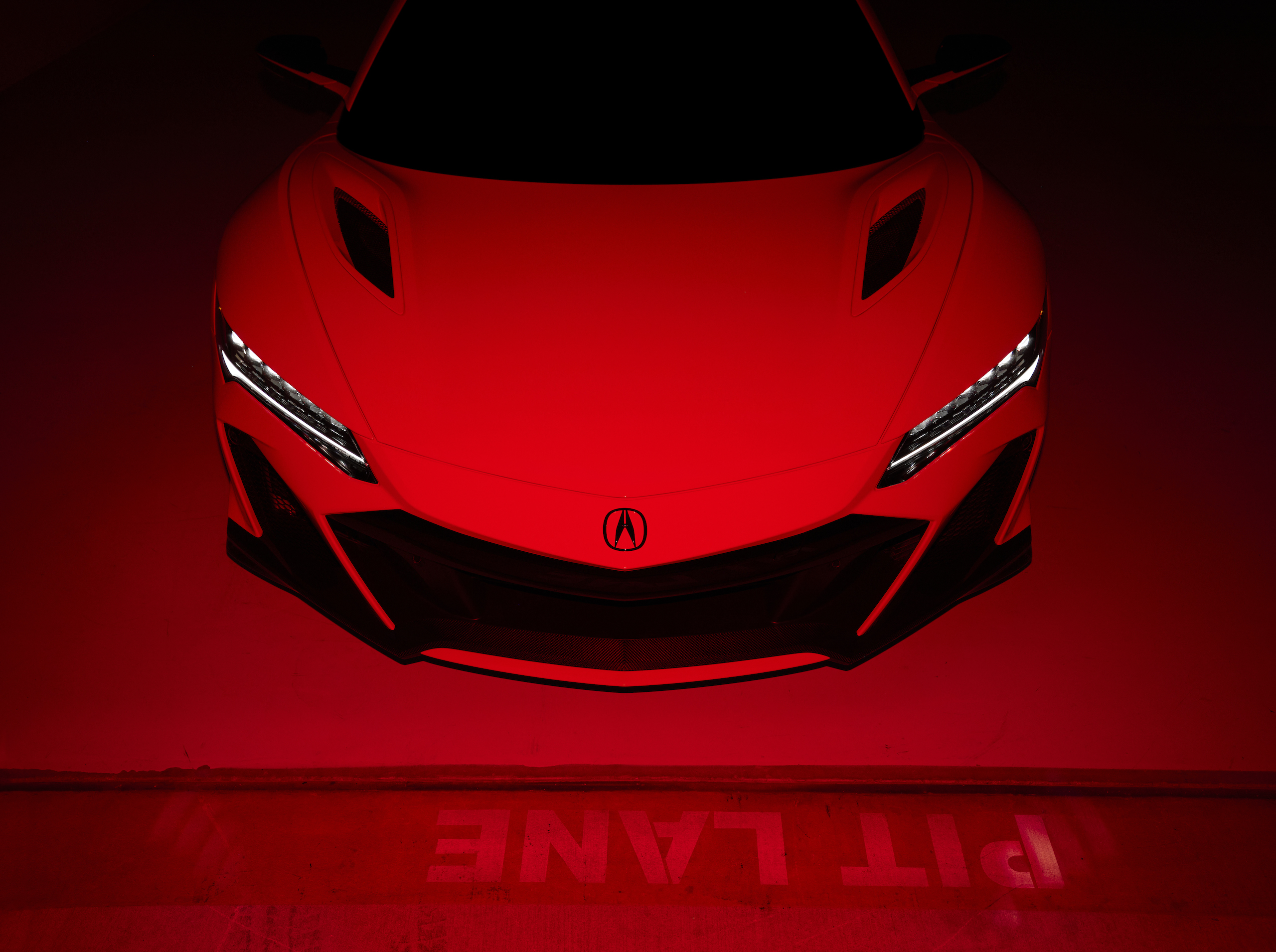 2022 Acura NSX Type S front red light
