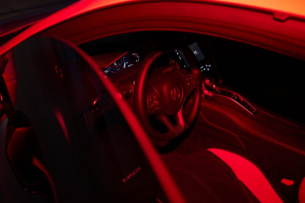 2022 Acura NSX Type S interior red light