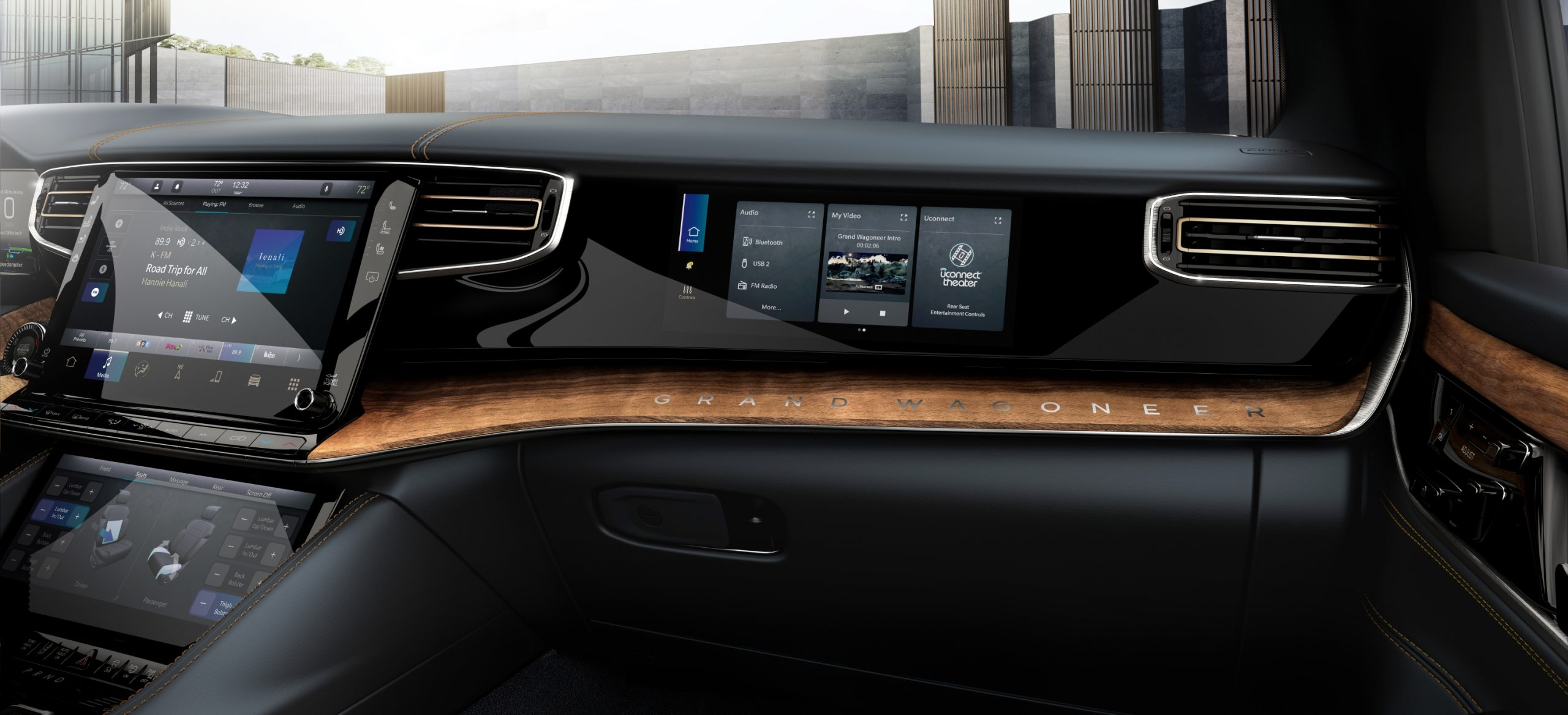 2022 Grand Wagoneer passenger screen
