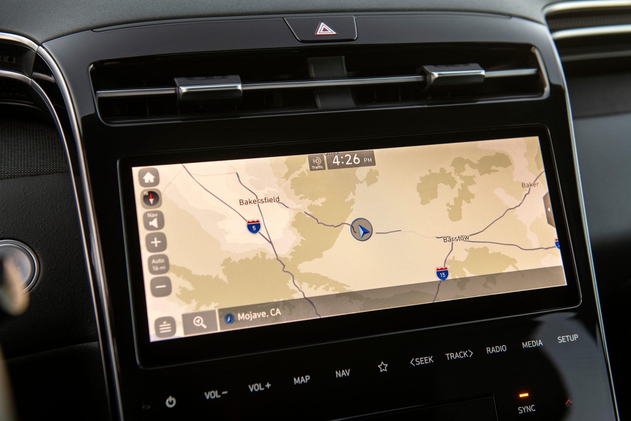 2022 Hyundai Santa Cruz Navigation screen
