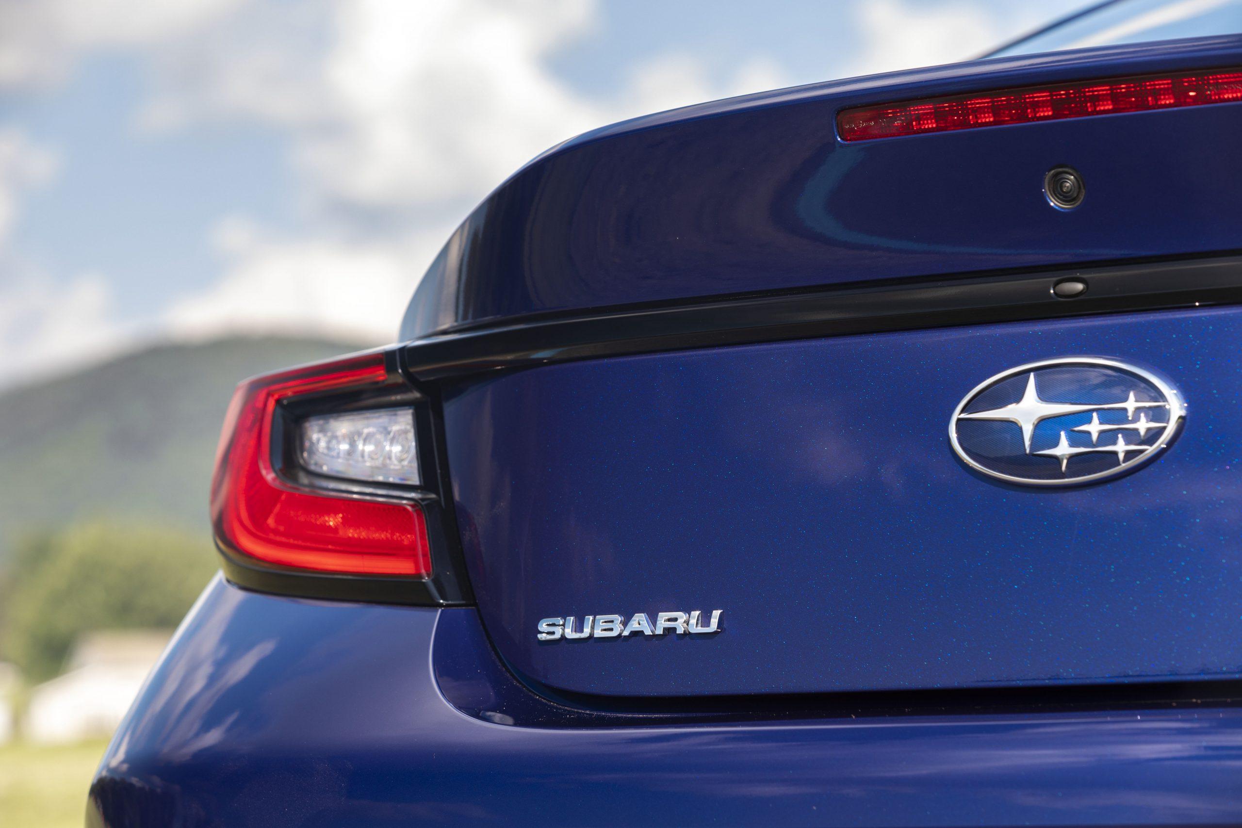 2022 Subaru BRZ rear detail close