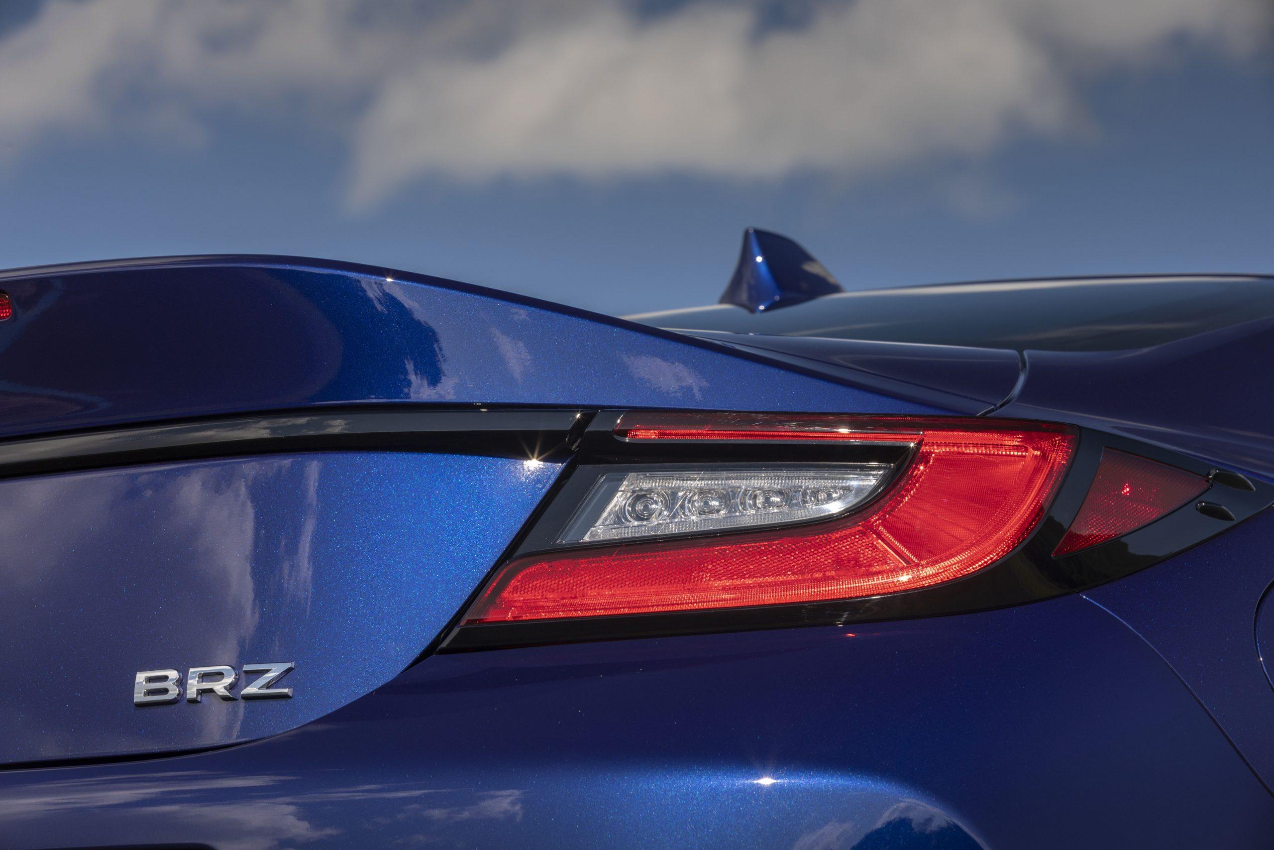 2022 Subaru BRZ rear taillight and badge