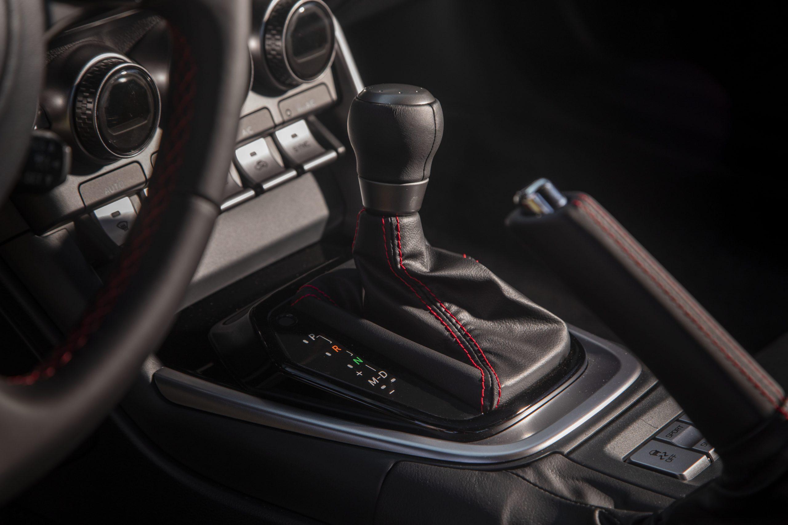 2022 Subaru BRZ interior shifter detail