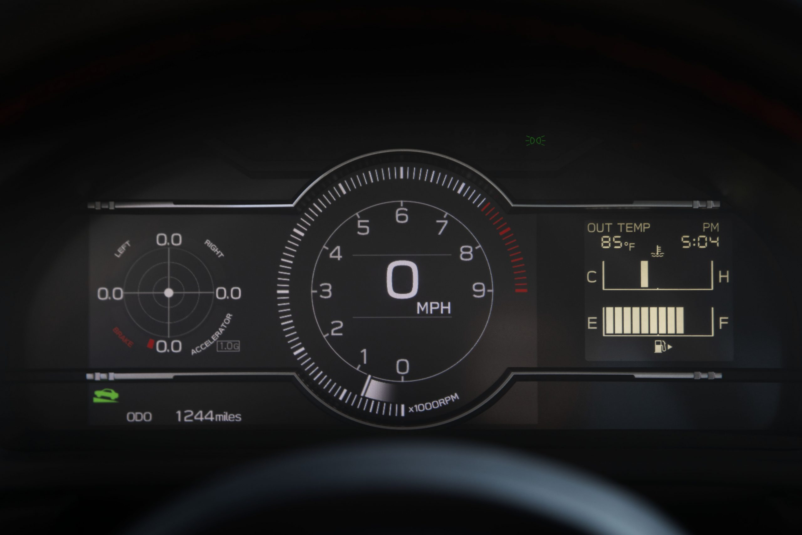 2022 Subaru BRZ interior dash digital gauges