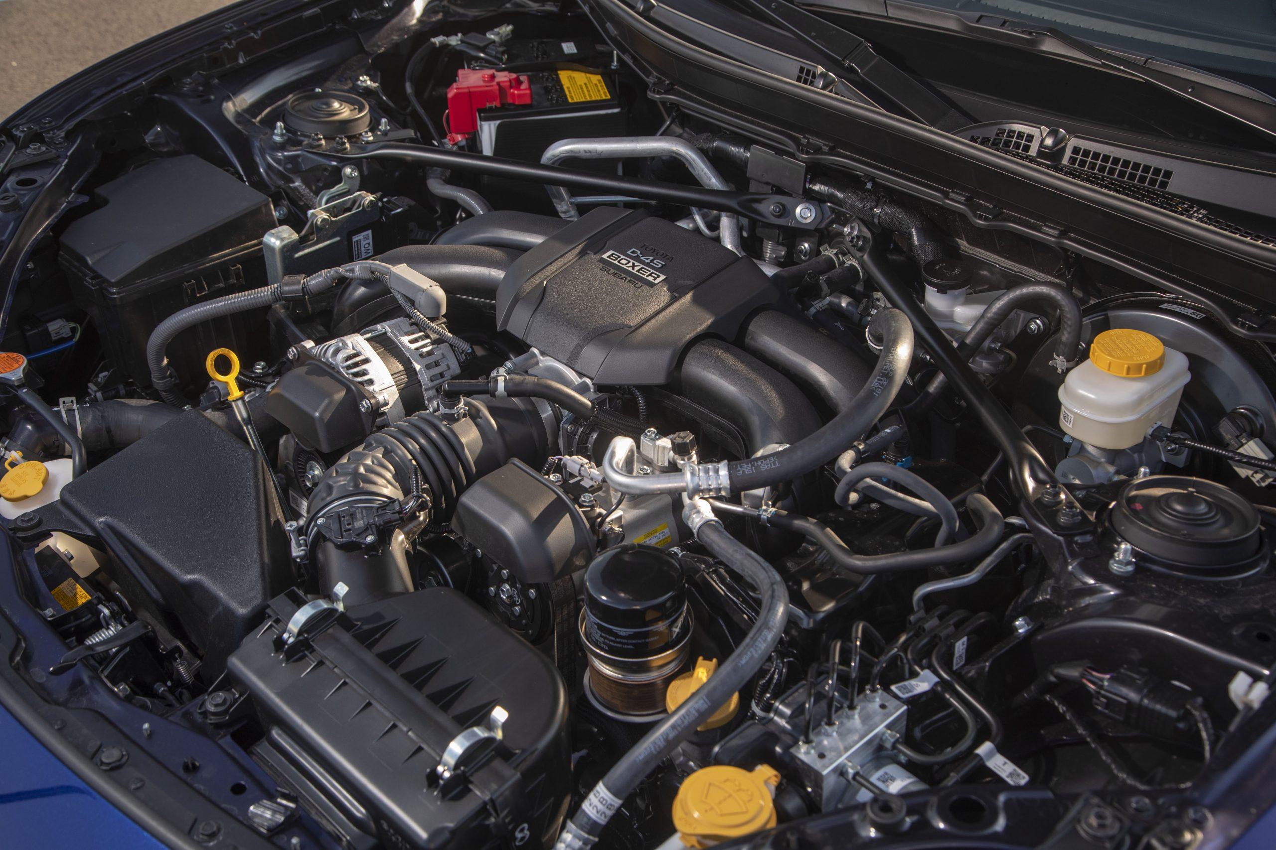 2022 Subaru BRZ engine angle