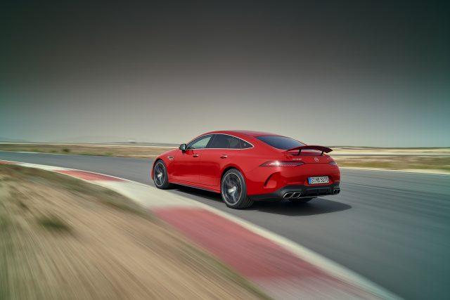 2023-Mercedes-AMG-GT-63-S-E-Performance rear three-quarter action