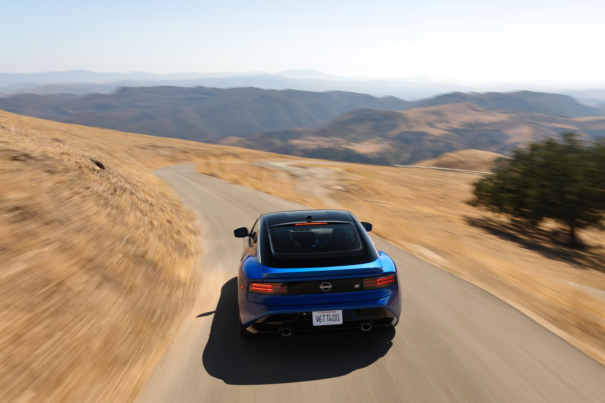 2023 Nissan Z dynamic road action rear
