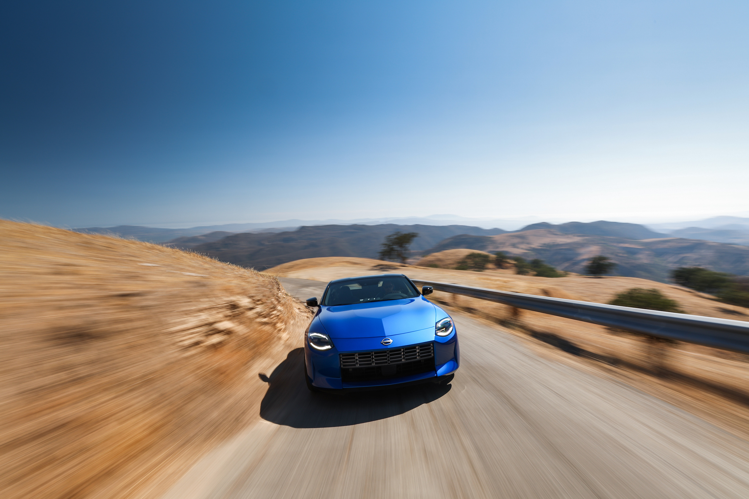 2023 Nissan Z dynamic road action front