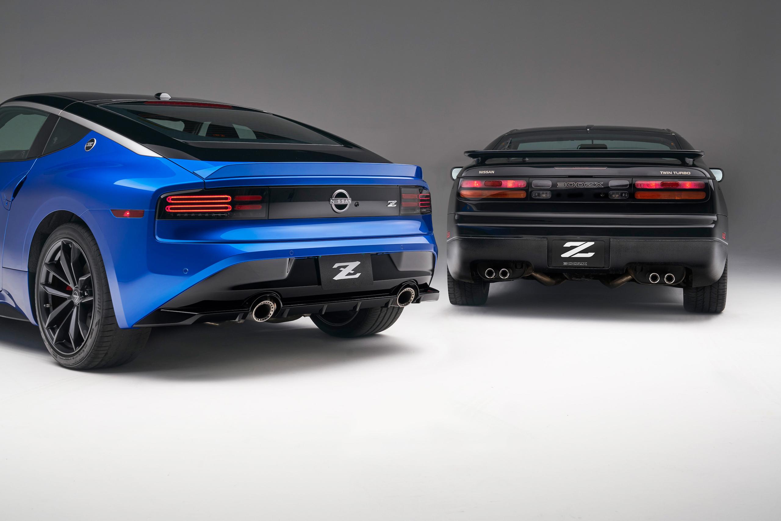 2023 Nissan Z and classic Z rear