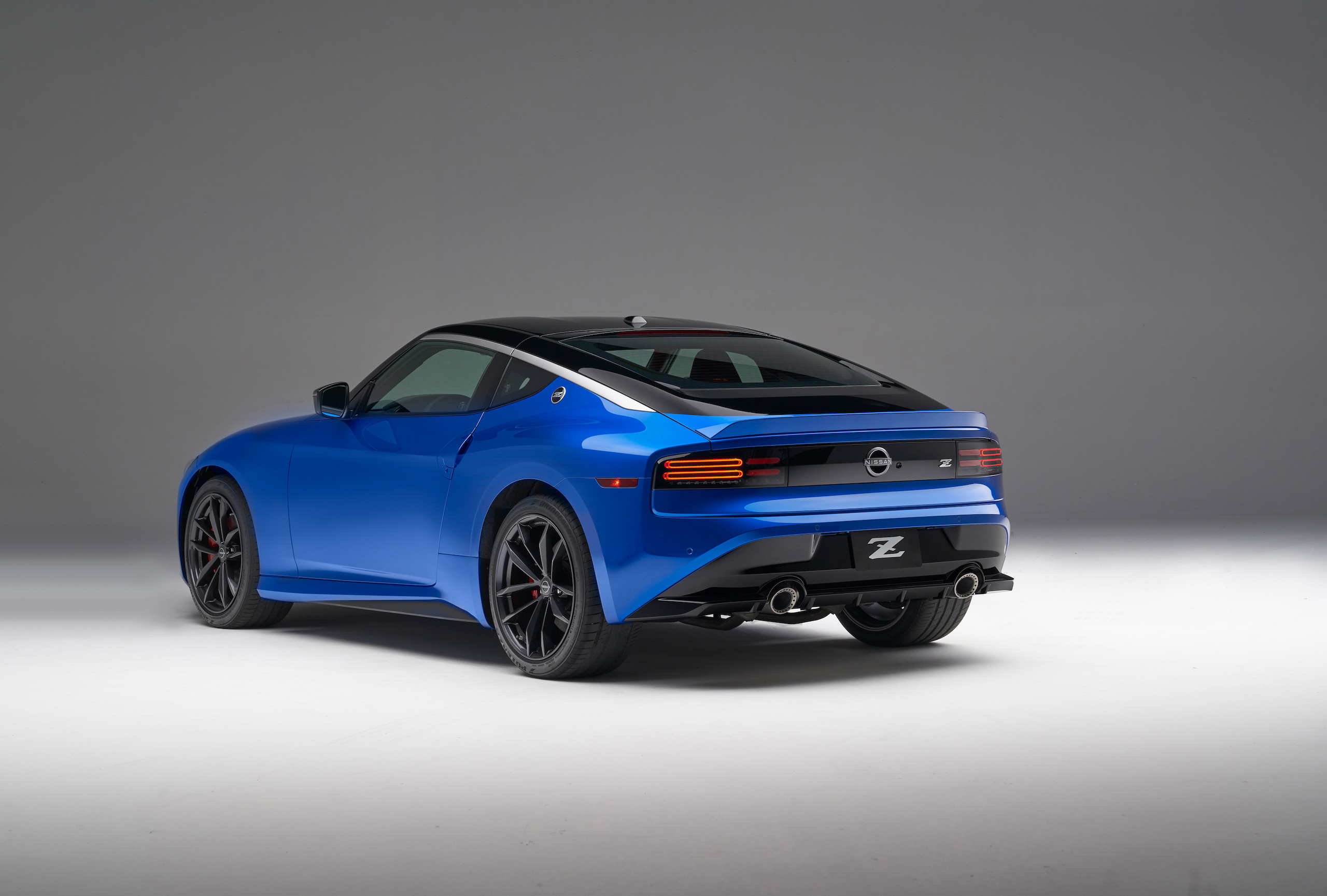 2023 Nissan Z rear three-quarter blue