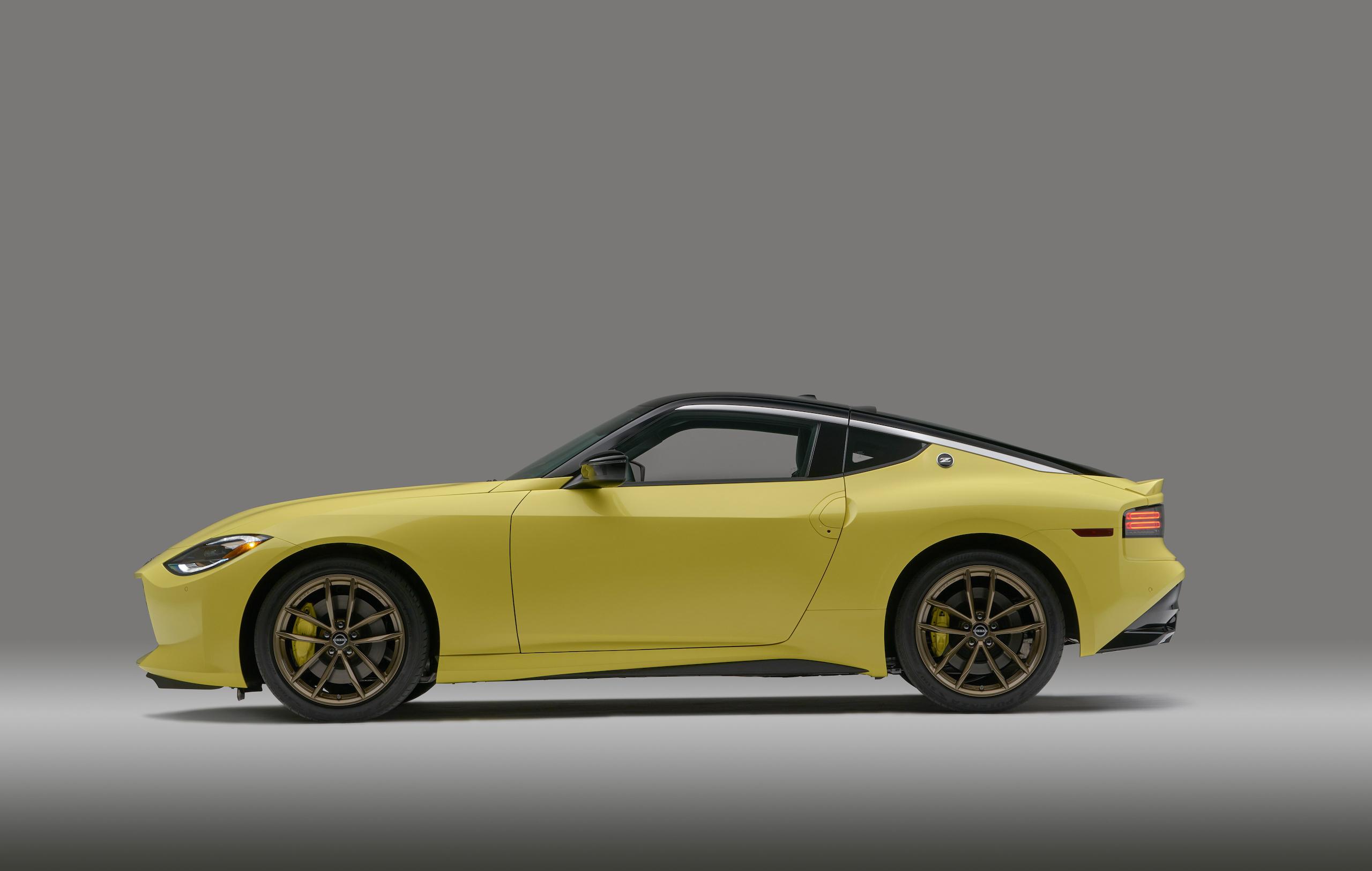 2023 Nissan Z side profile yellow