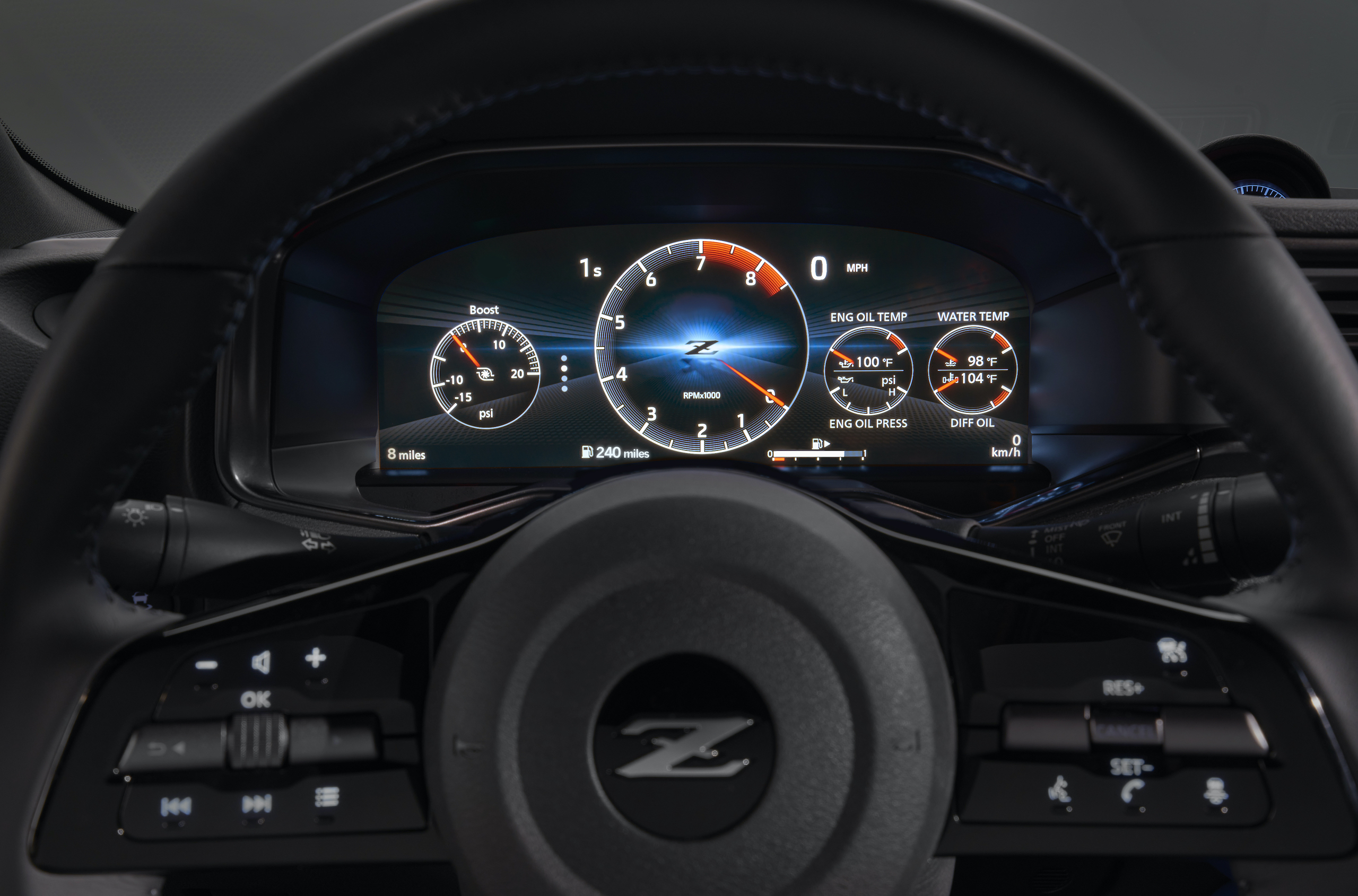 2023 Nissan Z interior digital dash
