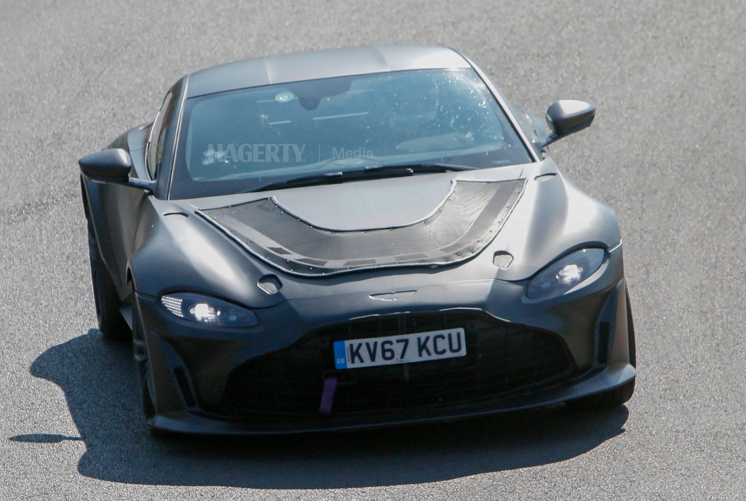 Aston Martin Vantage mule spy shot front