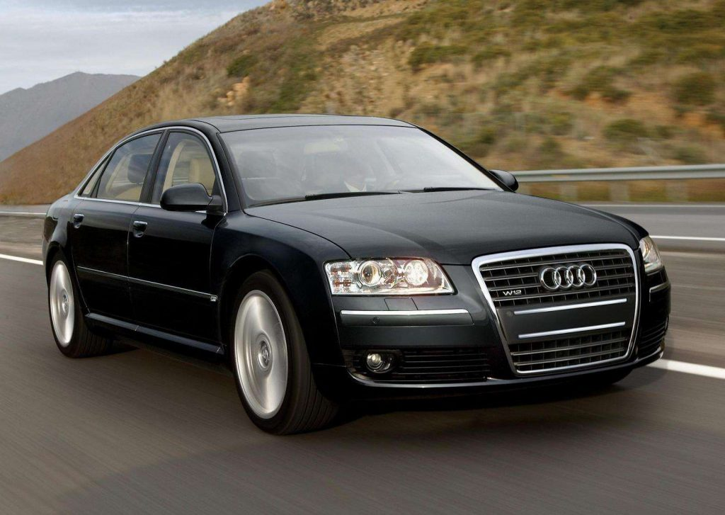 Audi A8 W12 front three-quarter action