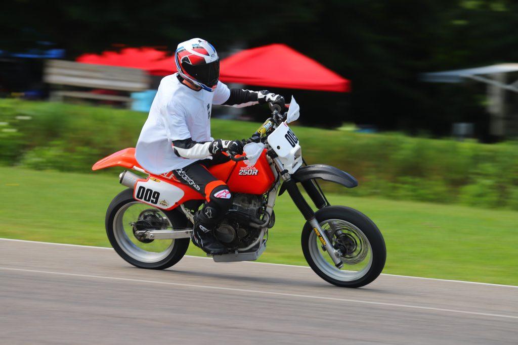 Kyle smith XR250R motard on track