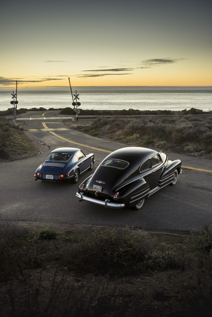 1946 Buick Special and 1970 Porsche 911 sunset