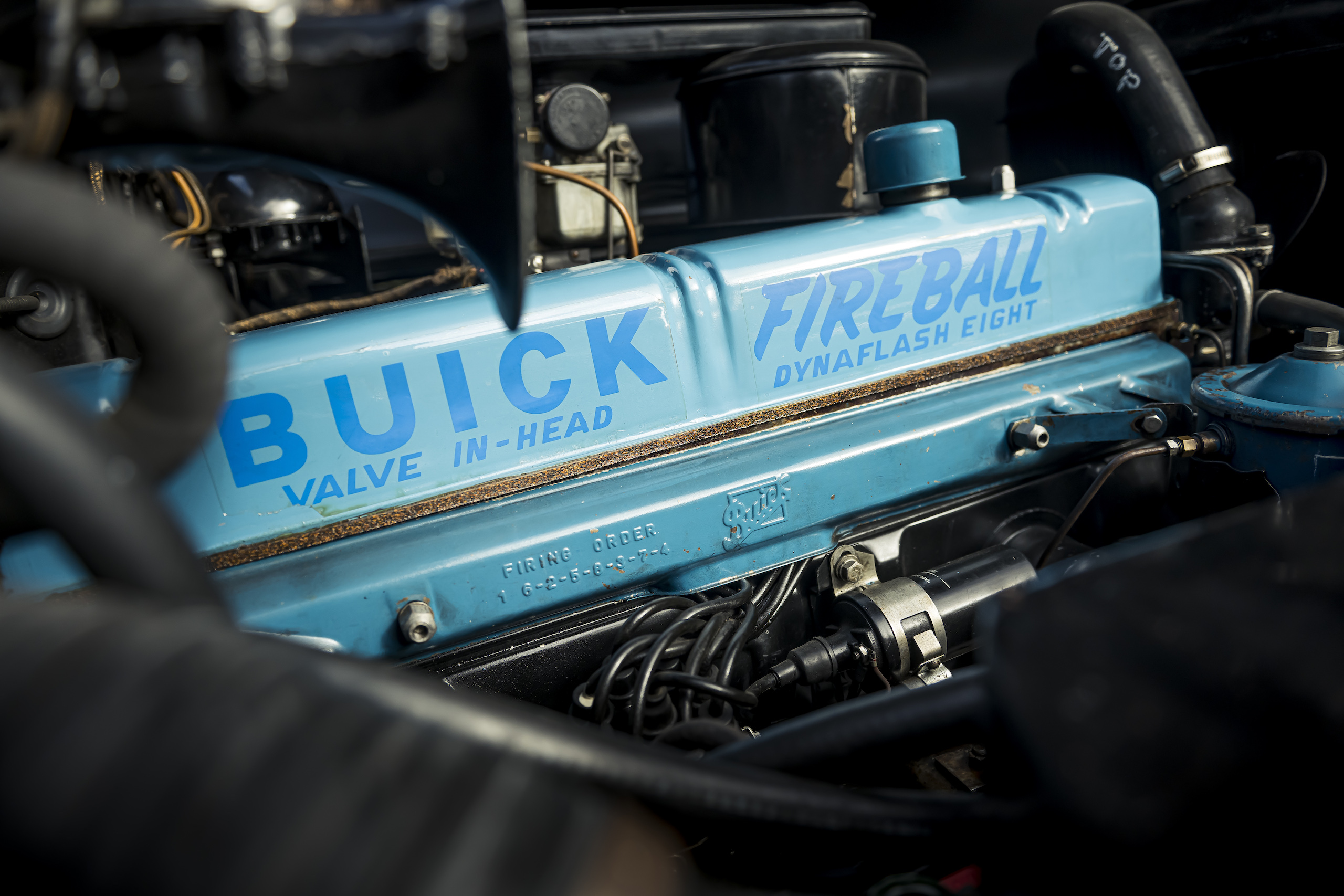 1946 Buick Special fireball engine detail