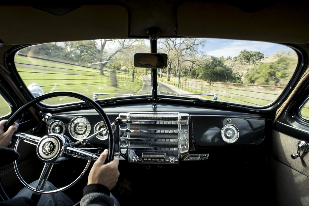 1946 Buick Special interior driving action