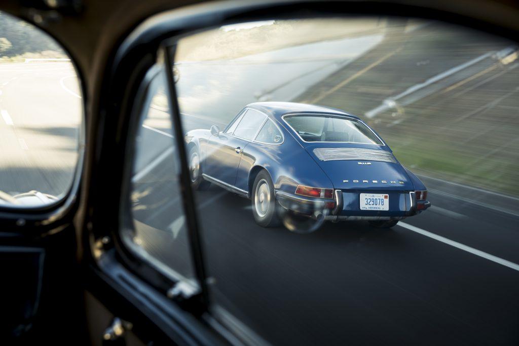 1970 Porsche 911 rear three-quarter driving action