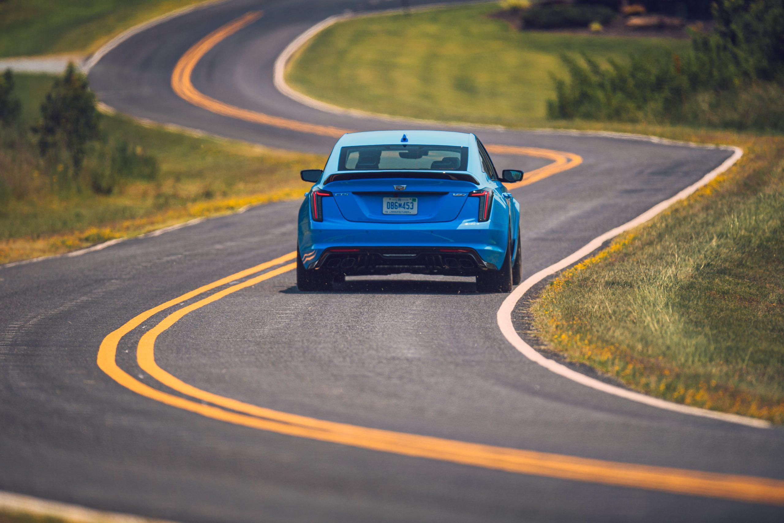 2022 Cadillac CT5-V rear action