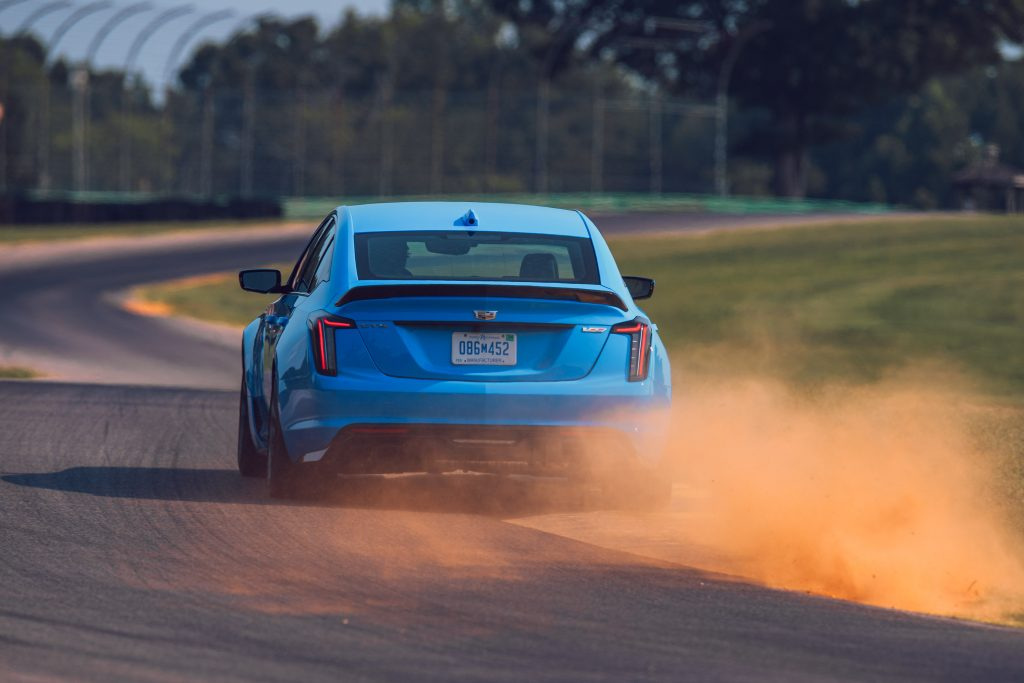 2022 Cadillac CT5-V Blackwing rear dirt cloud action