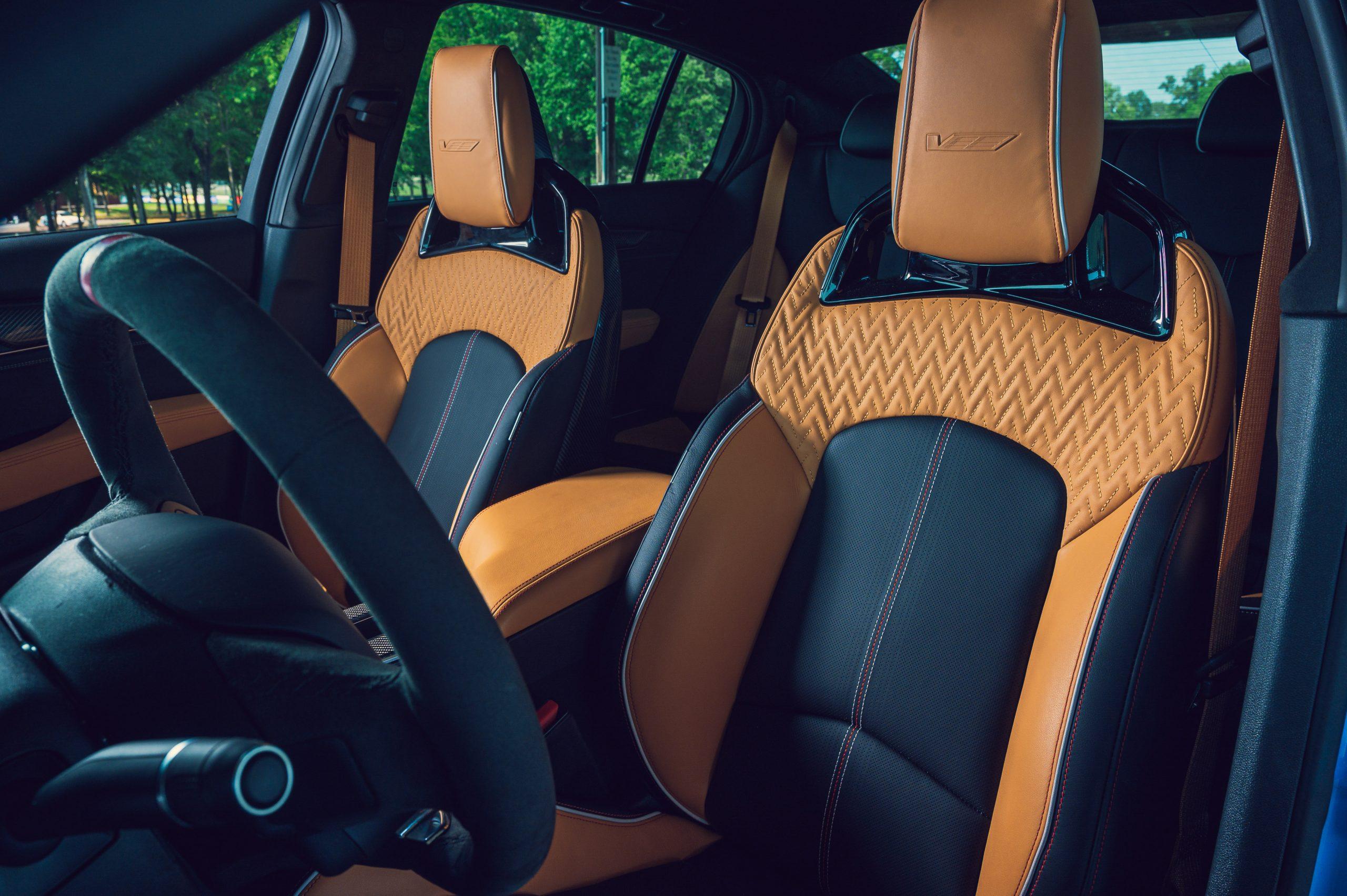 2022 Cadillac CT5-V Blackwing interior front seats