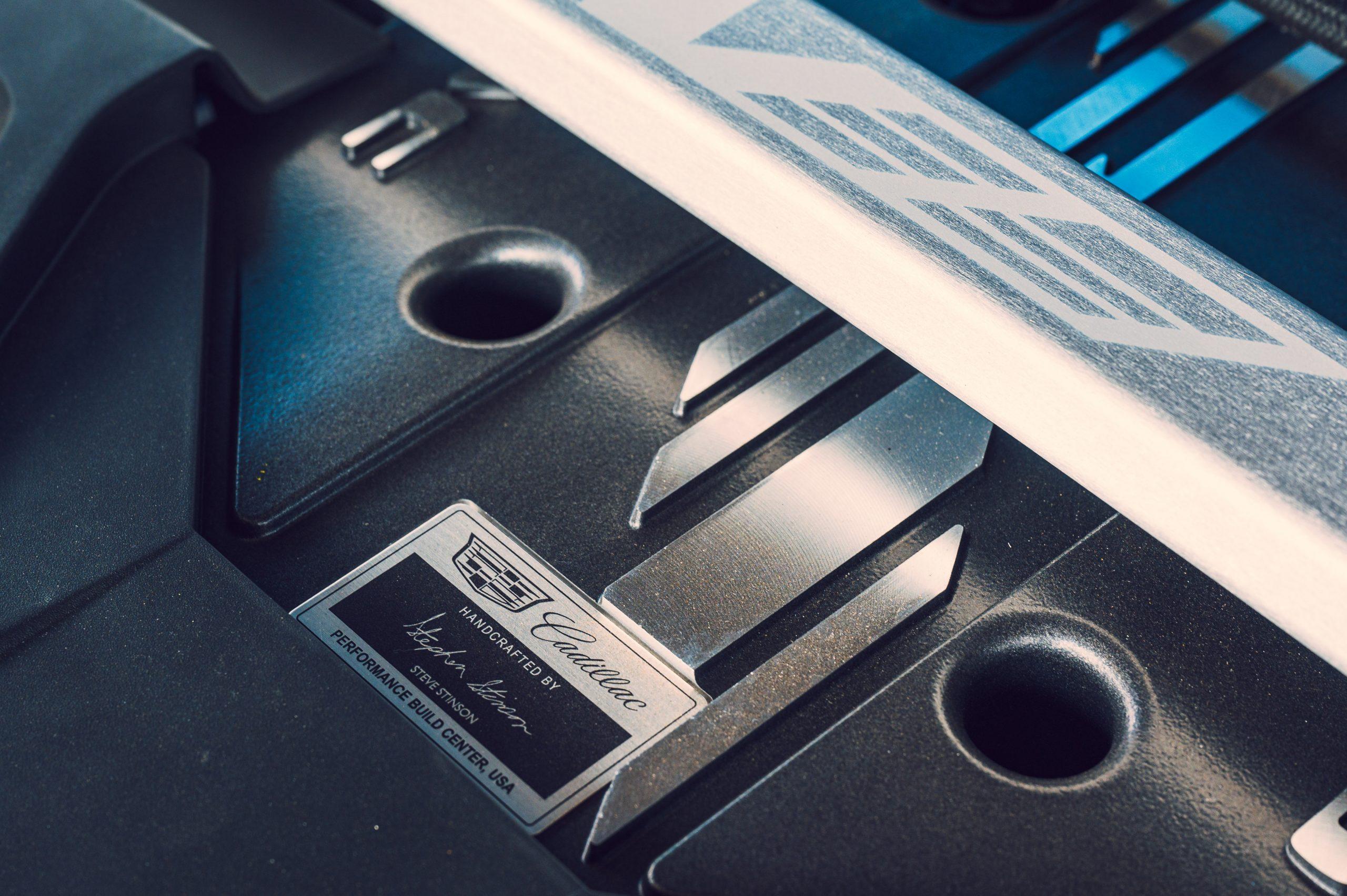 2022 Cadillac CT5-V Blackwing engine badge plate