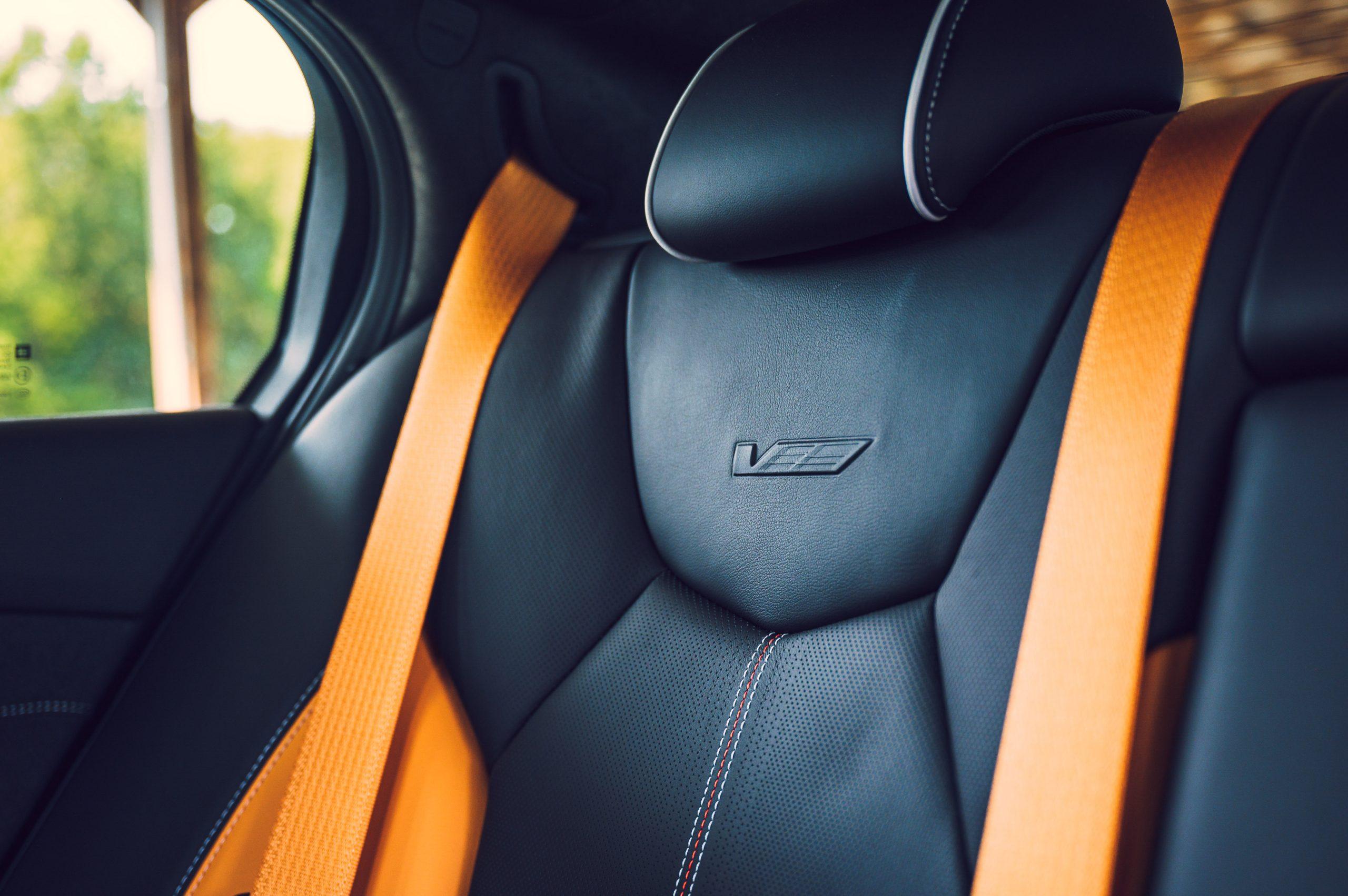2022 Cadillac CT5-V Blackwing rear seat detail