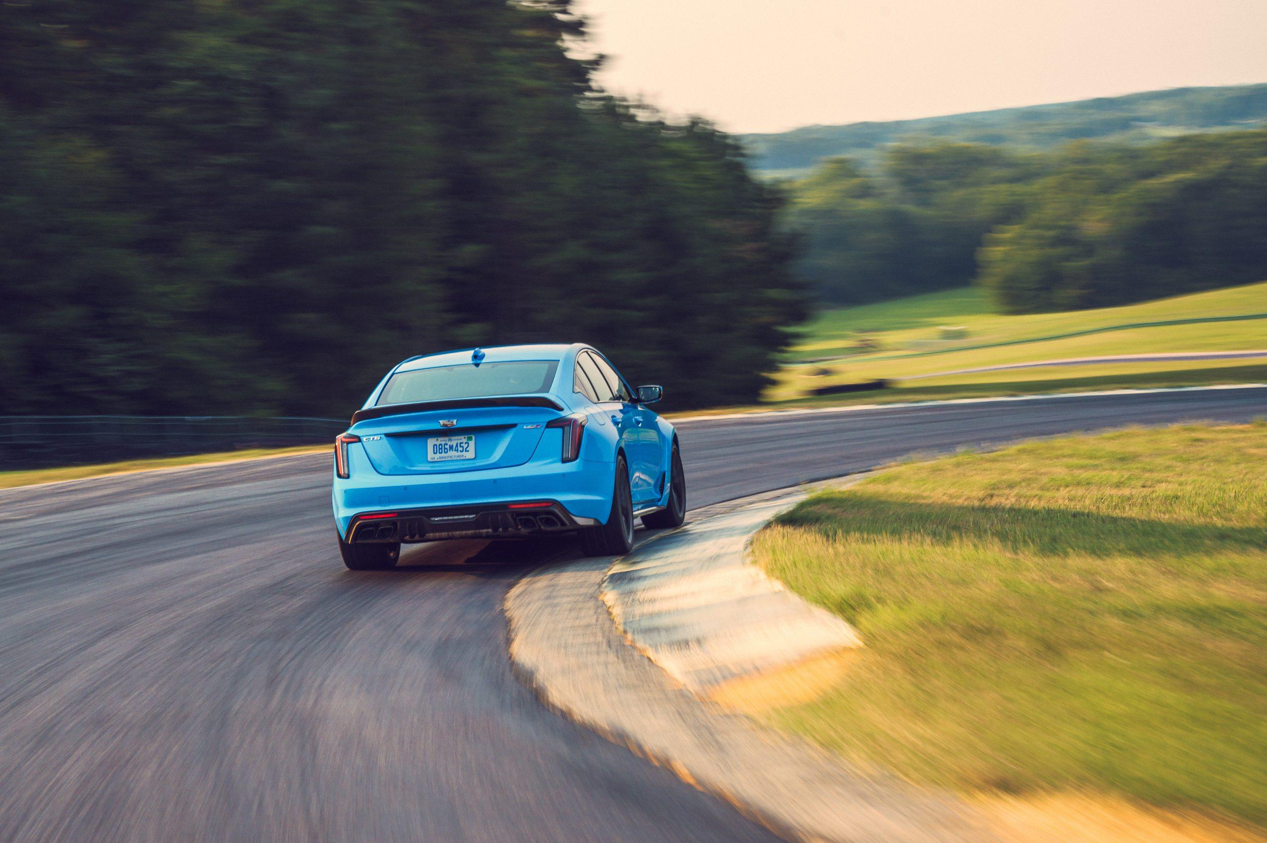2022 Cadillac CT5-V rear cornering action