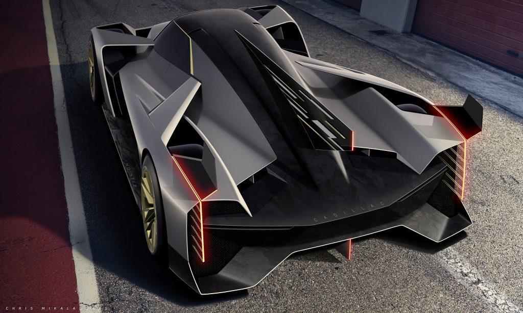 GM Design sketch Cadillac LMDh hypercar IMSA