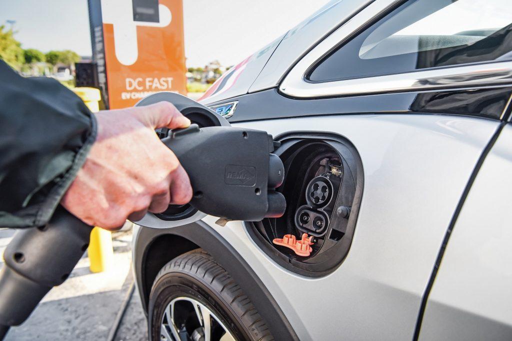 2018 Chevrolet Bolt EV charging connection