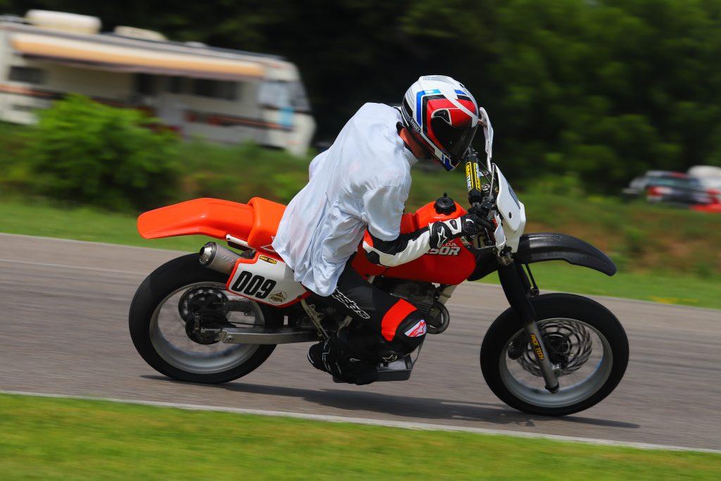 Kyle smith XR250R motard on track Right corner 2