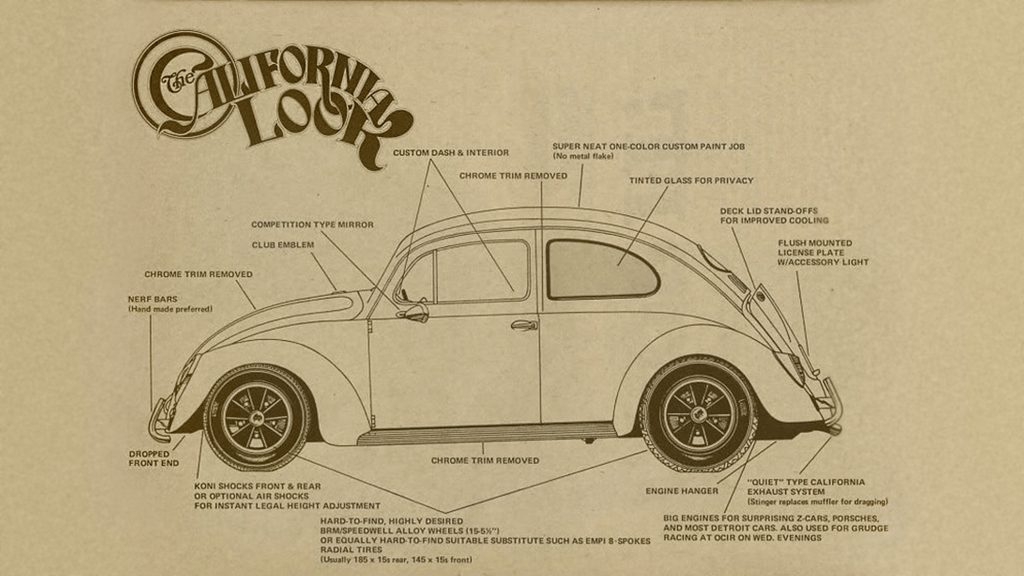 California Look VW Beetle graphic