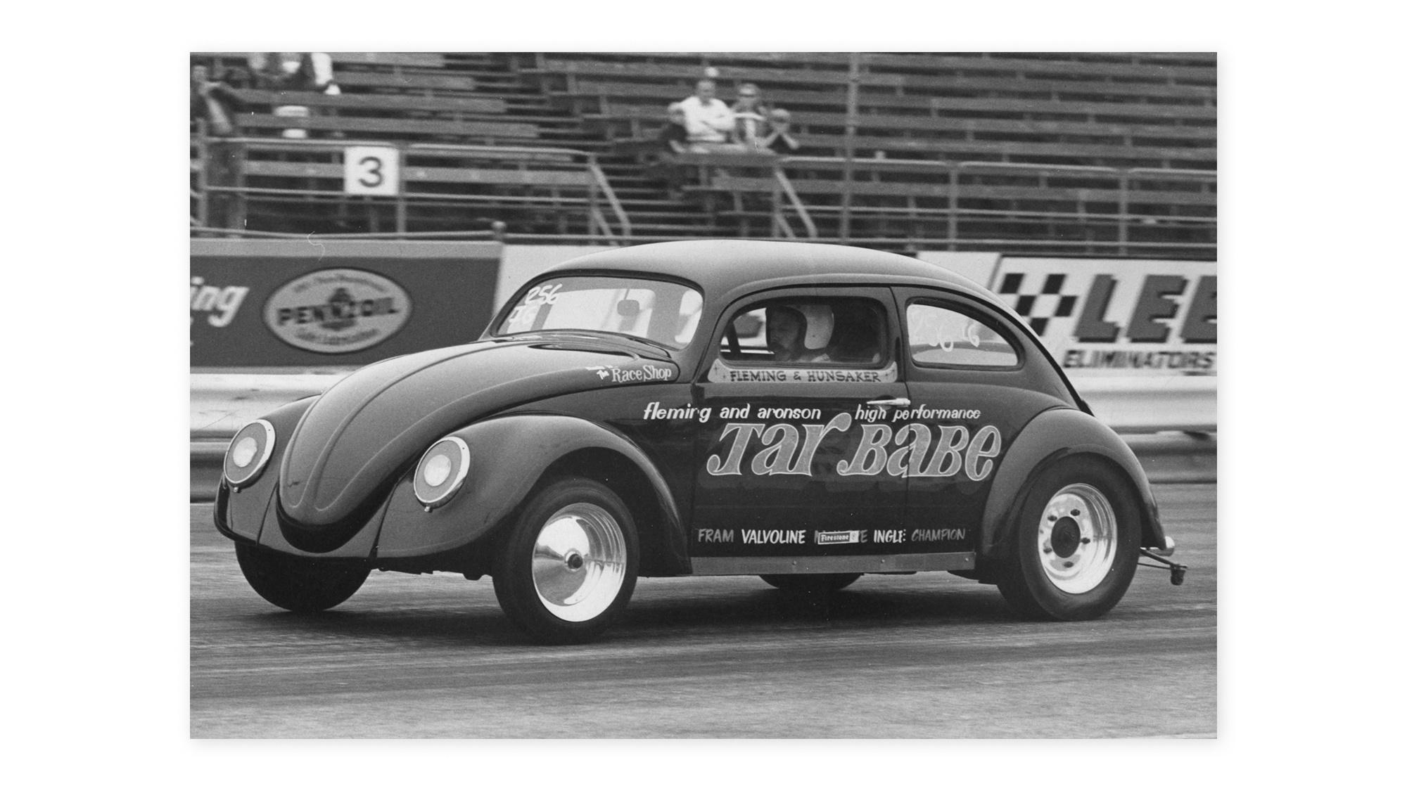 VW Beetle Tar Babe california look race