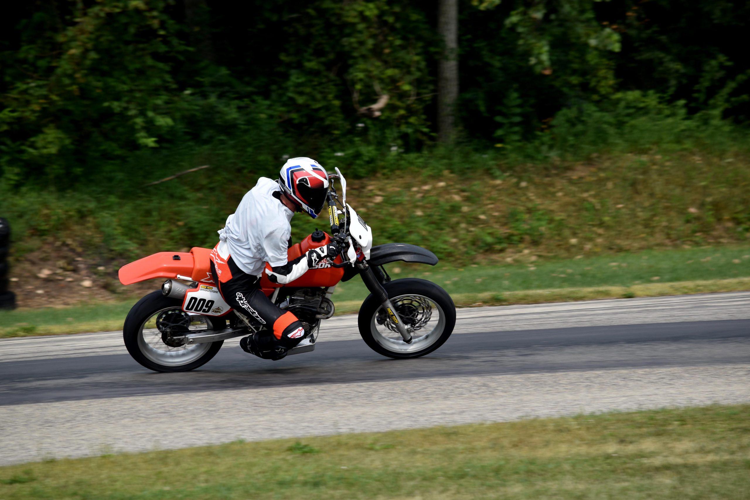 Honda XR250 on track Blackhawk Farms 3
