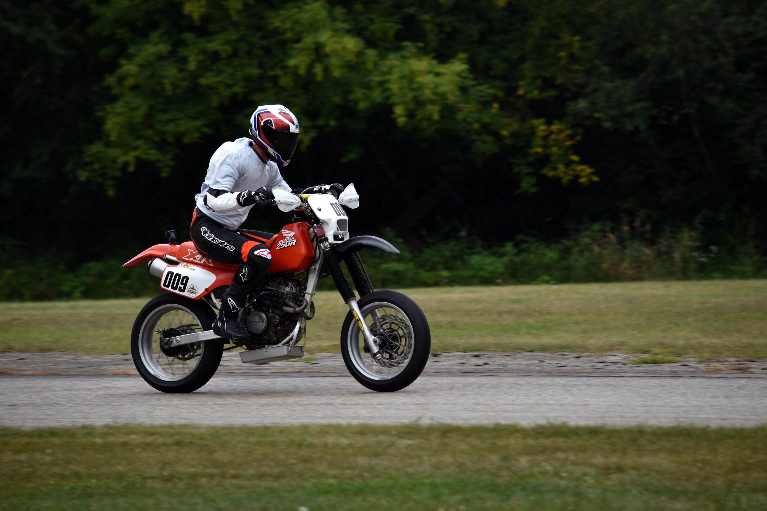 Honda XR250 on track Blackhawk Farms 2