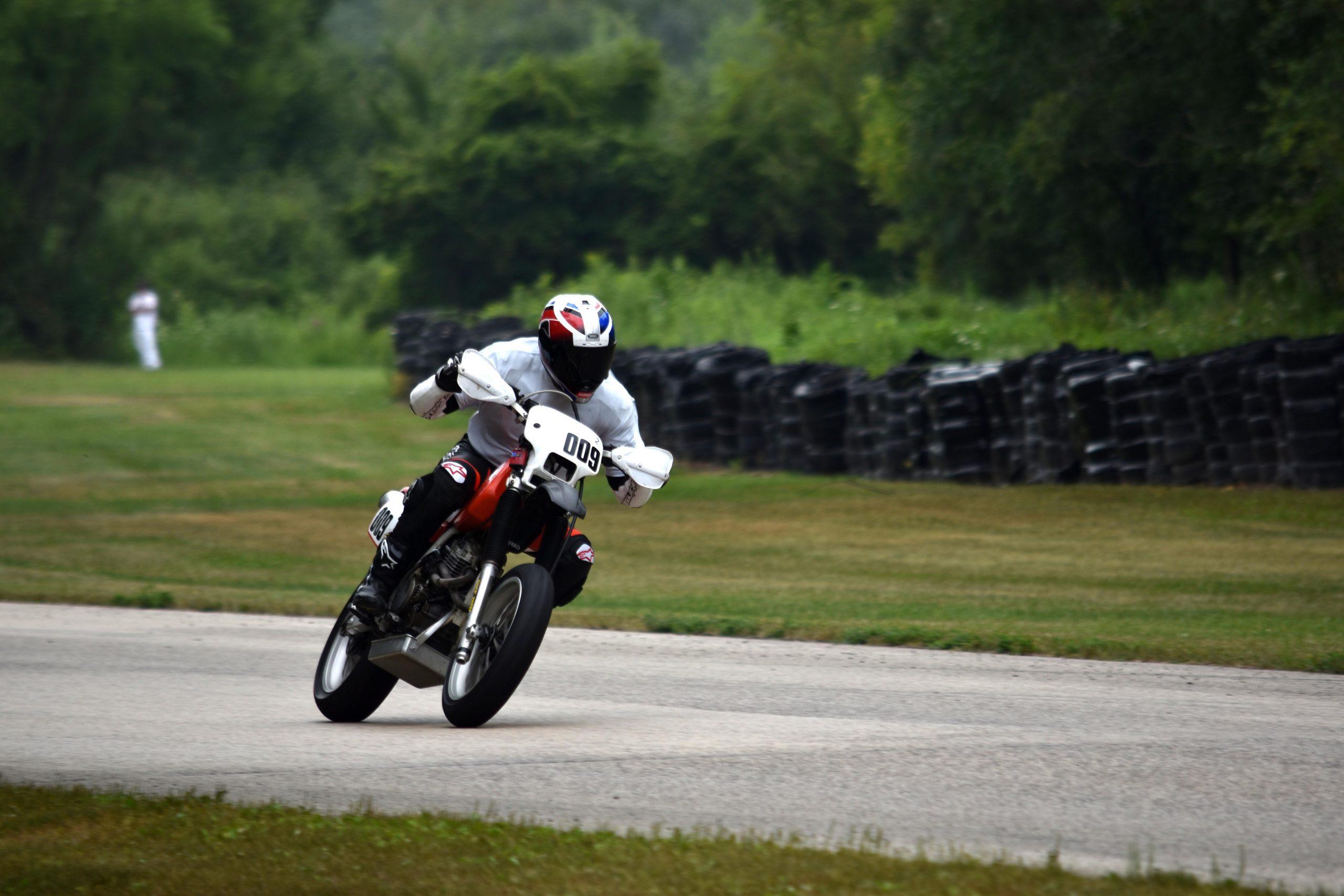 Honda XR250 on track Blackhawk Farms