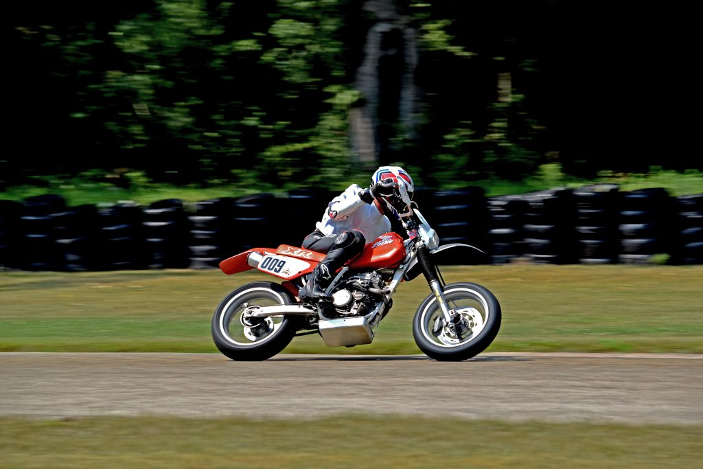 Honda XR250 on track Blackhawk Farms 4