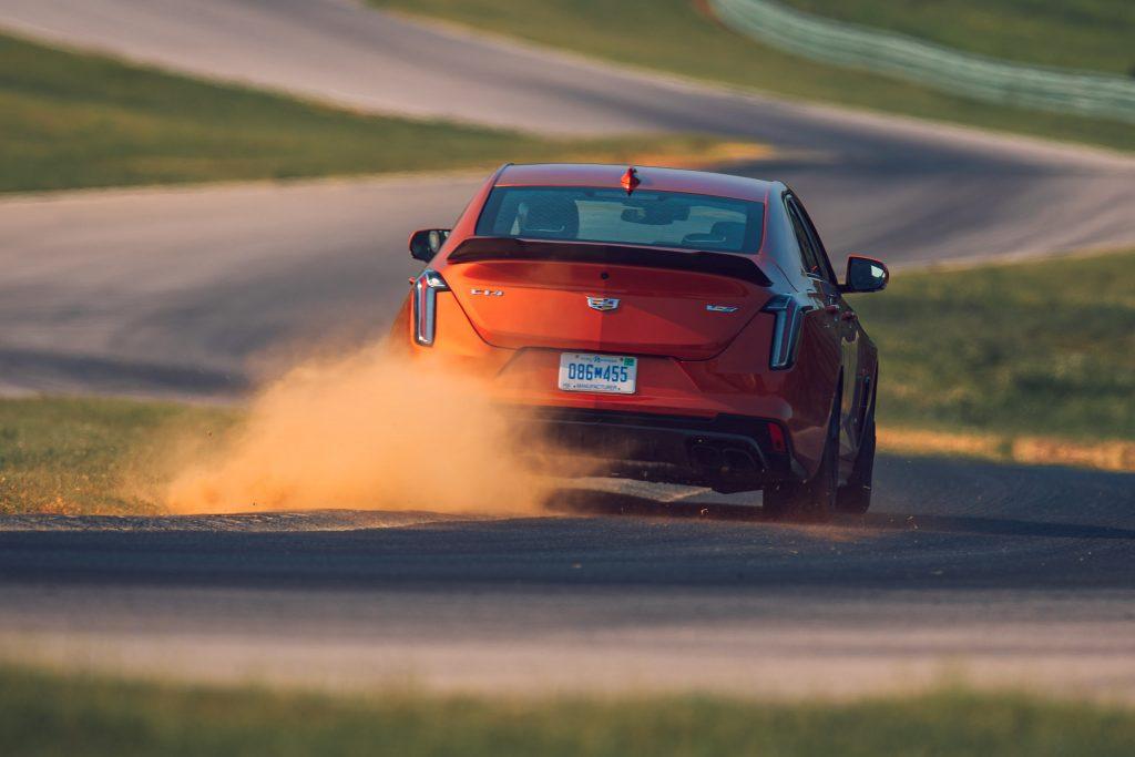 CT4-V Blackwing rear track action