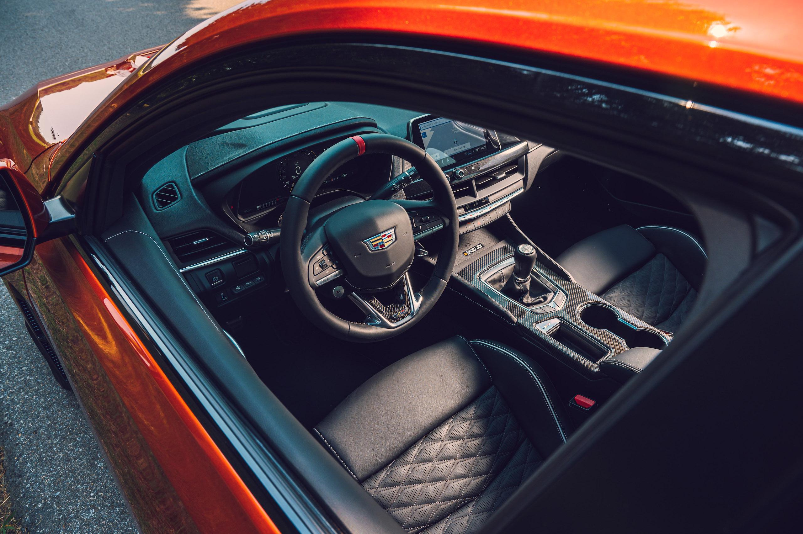 CT4-V Blackwing interior