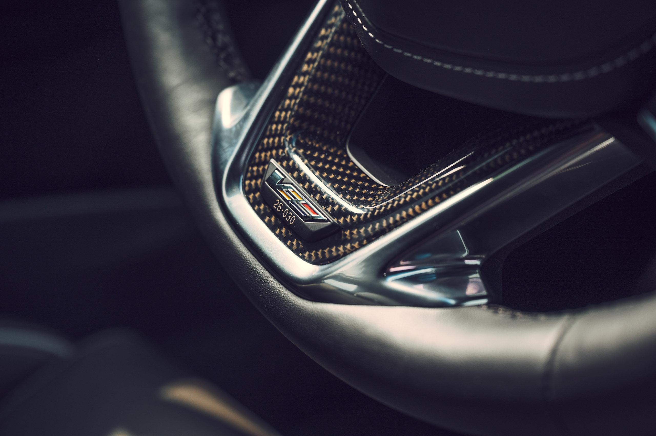 CT4-V Blackwing steering wheel detail